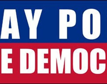 Stay Poor Vote Democrat Bumper Sticker (gop republican anti)