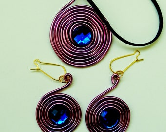 Earrings and Spiral Pendant
