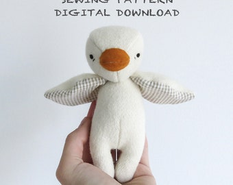 sewing pattern | the dear ones duck | soft toy pdf pattern digital download