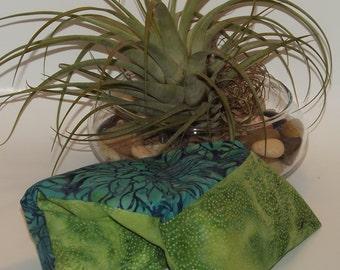 Ahhh-Maize-ing Corn Comfort Sak Multi Size Wrap 'Caribbean Sea', Batik, Green, Blue, Microwave Corn Bag