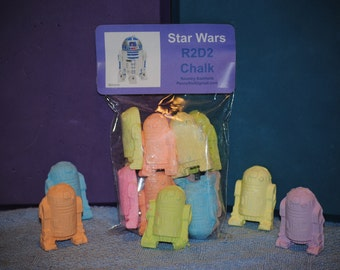 Star Wars R2D2 droid robot sidewalk chalk set  of 10 party favors gifts