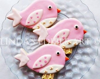 Baby Bird Cookies (1 Dozen)