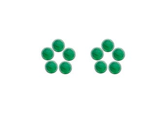 Emerald Round Rose Cut Faceted Cabochons 3x3, 4x4, 5x5, 6x6 mm 100% Natural/Non-Heated/Non-Treated Gemstones For Designer Jewelry