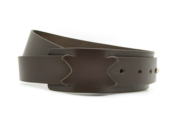 Buckle-less belt, Brown leather belt, No buckle belt - the Flash