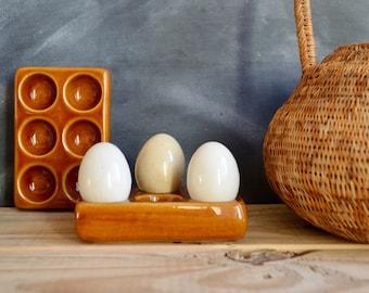 Vintage Niderviller France Egg Holder for Six Small Eggs, French Kitchen, Farmhouse Decor