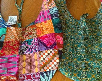 African Patchwork Purses: Reversible Sling