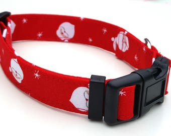 Red Santa ' Father  Christmas Dog Collar