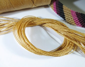 Beige Natural Waxed Polyester Cord 25ft pack  = 8.33 yards = 7,6 meters Linhasita Thread Brand #314