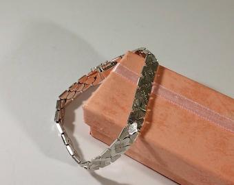 Link bracelet silver 925 precious rar SA261