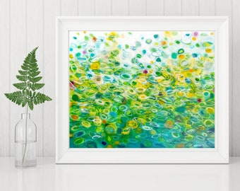Green Abstract Printable - Abstract Art Print - Abstract Circle Painting - Instant Download - Modern Home Decor - 8x10 11x14