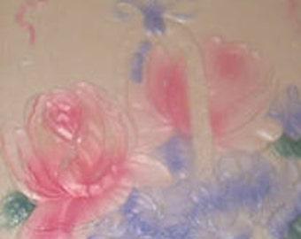 SALE Lovely Vintage Embossed Floral Postcard (Roses)