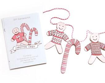 SALE Christmas Candy DIY Garland Kit - 60% off