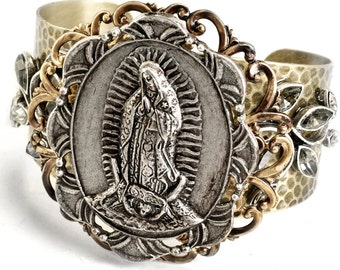 Virgin of Guadalupe, Lady of Guadalupe, Religious Bracelet, Inspirational, Virgin Mary Bracelet, First Communion Gift, Confirmation BR900