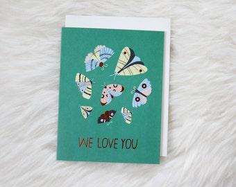 WE LOVE YOU copper foil card