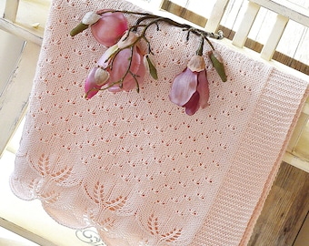 KNITTING PATTERN-Butterfly Kisses Baby Blanket - P119