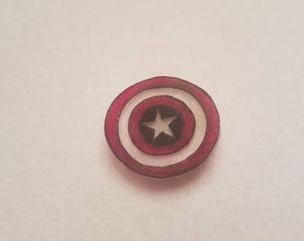 Captain America inspired pin