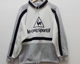 SALE !! Vintage 90's Le Coq Sportif SweatShirt -A014