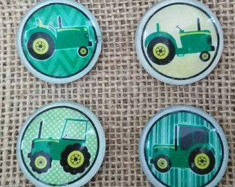 Green Tractor Magnets - Farm Magnets - Fathers Day Gift - Gifts For Him - Refrigerator Magnets - John Deere Greene Tractor Magnets