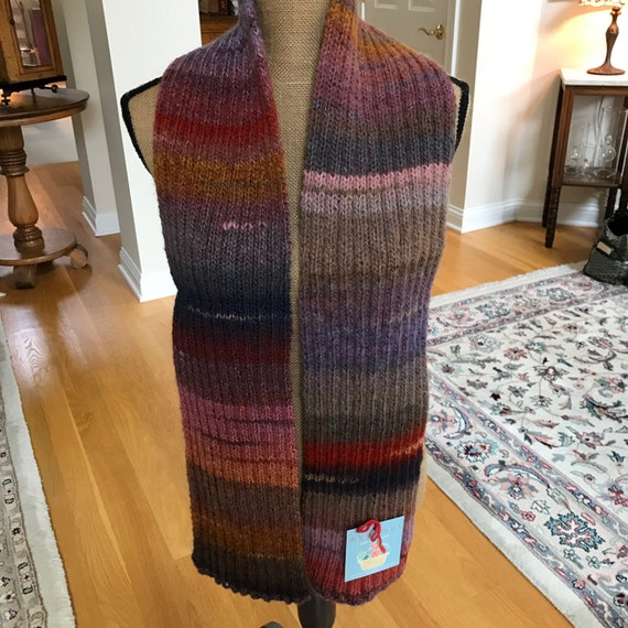 Hand Knit Long Scarf – JOSHUA TREE Amazing Yarn