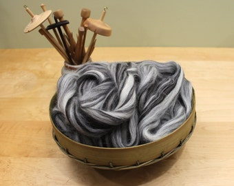 Icelandic Wool - Natural Humbug - Undyed Roving for Spinning or Felting (8 oz)