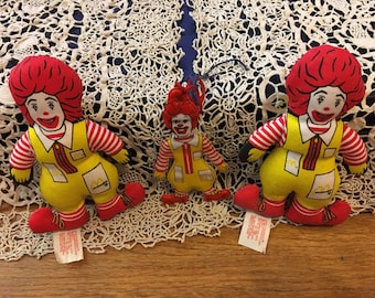 1984 Ronald McDonalds collectables.