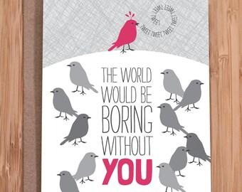 birthday card / birds