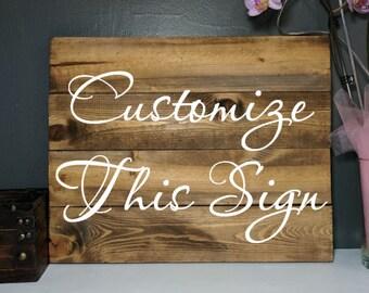 Custom pallet sign, custom wood sign, custom wooden sign, custom plaque, custom sign, custom wall hanging, custom distressed sign, custom