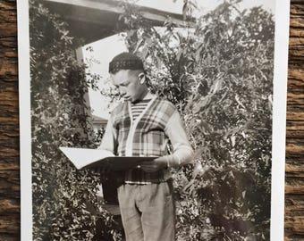 Original Vintage Photograph The Young Scholar