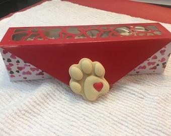 Pawprints on my Heart Dog Cookies