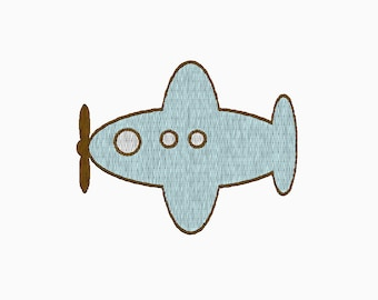 INSTANT DOWNLOAD airplane embroidery design