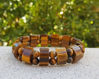 Tiger's Eye Stretch Bracelet, Tiger's Eye, Stretch Bracelet, Energy Bracelet, Chakra Bracelet