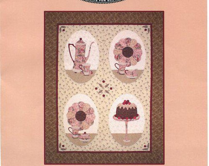 Free Usa Shipping Craft Pattern Quilt Soup Pattern Co. Coffee Pot Cake 2005 Whimsical Sewing Pattern New Old Store Stock Out of Print