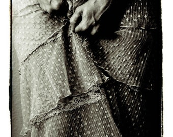 fine art photography by Kelly Angard - black and white photograph - woman arms hands body