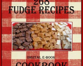 268 Fudge Recipes E-Book Cookbook Digital Download
