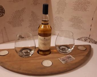 Whisky Barrel Top Flight Tray