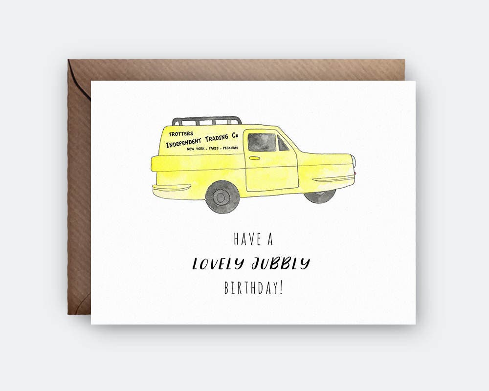 Lovely Jubbly Birthday Card Only Fools and Horses BBC TV