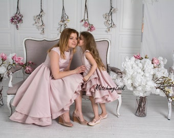 Mommy and Me outfits, Mother daughter matching dress, Matching mother daughter outfits, Matching Mom and Baby, Mother Daughter Gift, Blush