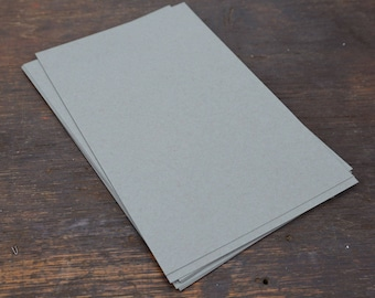 Gray Card Stock, 30 Sheets, Folds to A2, Flat Size 8.5 x 5.5 In. Kraft Paper 100 lb Weight Cover Stock. Card Making Supplies. Paper craft.