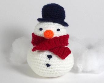 Snowman, Snowman Crochet Pattern, Snowman Pattern, Instant Download, Digital PDF Pattern