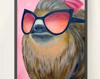 11 x 17 Sloth Family 2 Meme Poster Print