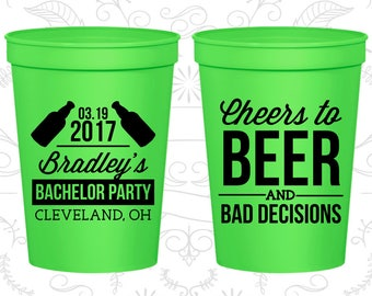 Bachelor Party Cups, Bachelor Favors, Bachelor Party Favors, Bachelor Cups, Bachelor Favor Cups, Party Favor Cups, Cheers to Beers (C40045)