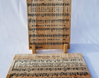Classical Hymns Song Boards, Christian Wall Art, Hymn Art, Amazing Grace, In the Garden Hymn