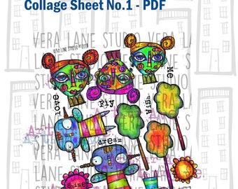 Arthur Ave. Collage Sheet No.1 -- downloadable PDF collage sheet