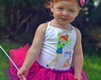 GYMNASTICS Birthday Dress - OLYMPIC Birthday Dress - Gymnastics Leotard - Gymnastics Tutu - Personalized with Name and Number