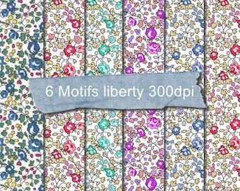 Digital downloadable pattern file Eloise liberty - Liberty Digital Paper