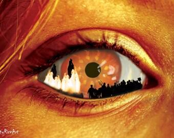 Horror Print - Witch Hunt, Sacrifice, Witches, Burning, A3, Horror Scene,Dark Print, Digital Art,art of darkness,halloween, Urban Legend