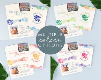 Tropical Passport Wedding Invitation designed to match your wedding colours perfectly