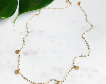 14k Gold Filled Mini Coin Necklace