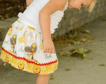 Pooh skirt ( 12 mos, 18 mos, 24 mos, 2T, 3T, 4T, 5, 6)
