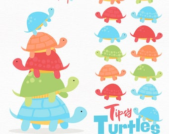 Professional Turtle Stack Clipart in Fresh Boy - Turtle Clipart, Turtle Vectors, Fresh Boy Turtles